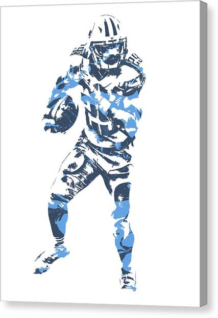 Tennessee Titans Canvas Print - Demarco Murray Tennessee Titans Pixel Art 6 by Joe Hamilton