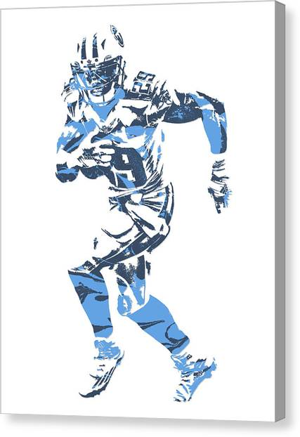 Tennessee Titans Canvas Print - Demarco Murray Tennessee Titans Pixel Art 7 by Joe Hamilton