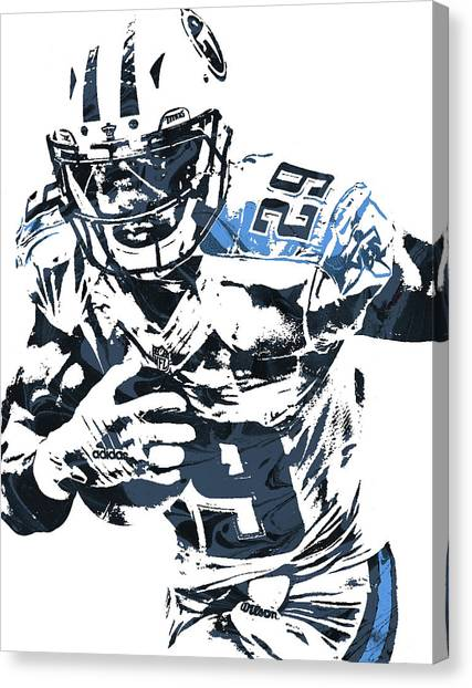 Tennessee Titans Canvas Print - Demarco Murray Tennessee Titans Pixel Art by Joe Hamilton
