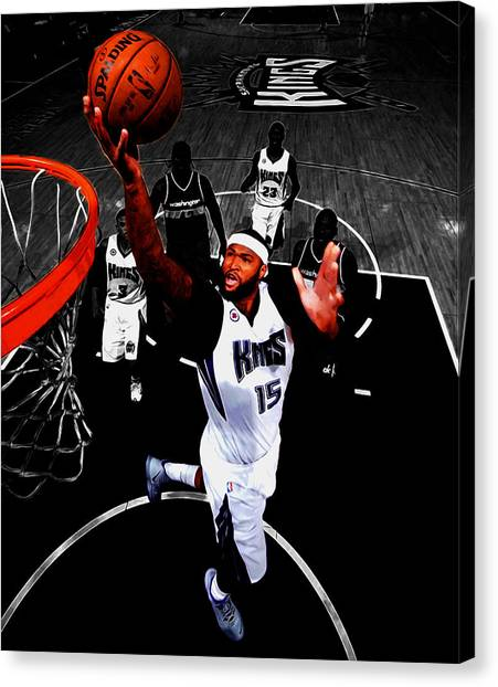 University Of Kentucky Canvas Print - Demarcus Cousins by Brian Reaves