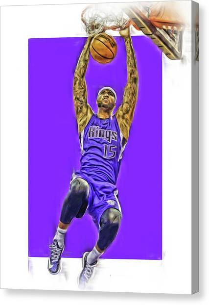 Sacramento Kings Canvas Print - Demarcus Cousins Sacramento Kings Oil Art by Joe Hamilton