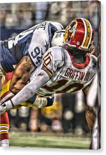 Denver Broncos Canvas Print - Demarcus Ware Cowboys Art 2 by Joe Hamilton