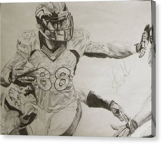 Philidelphia Canvas Print - Demaryius Thomas by Justin Wade