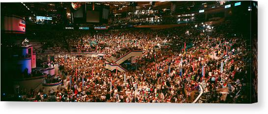 Bill Clinton Canvas Print - Democratic Convention At Madison Square by Panoramic Images