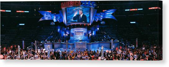 Bill Clinton Canvas Print - Democratic Convention At Staples by Panoramic Images