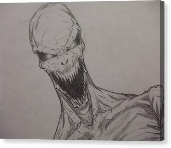 Demon Zombie Canvas Print by John Prestipino