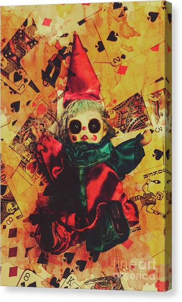 Magicians Canvas Print - Demonic Possessed Joker Doll by Jorgo Photography - Wall Art Gallery