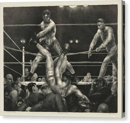 Knockout Canvas Print - Dempsey And Firpo, 1924 by George Bellows