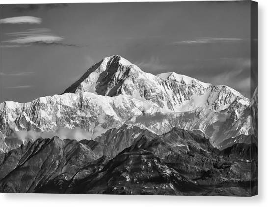 Denali Canvas Print - Denali Grey by Ed Boudreau