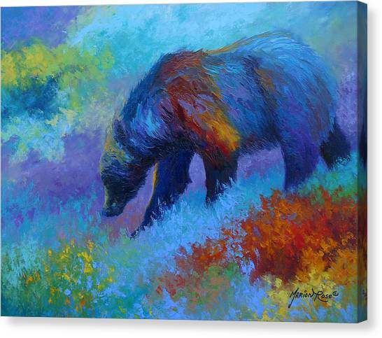 Denali Canvas Print - Denali Grizzly Bear by Marion Rose