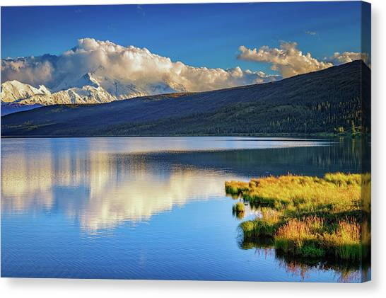 Denali Canvas Print - Denali Reflections by Rick Berk