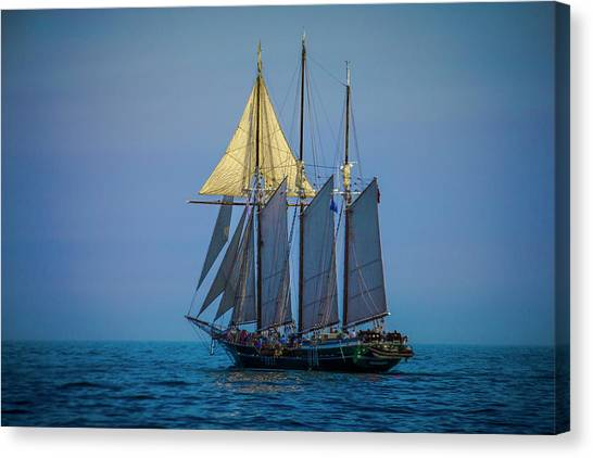Denis Sullivan - Three Masted Schooner Canvas Print