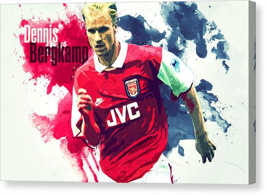 New York Red Bulls Canvas Print - Dennis Bergkamp by Semih Yurdabak