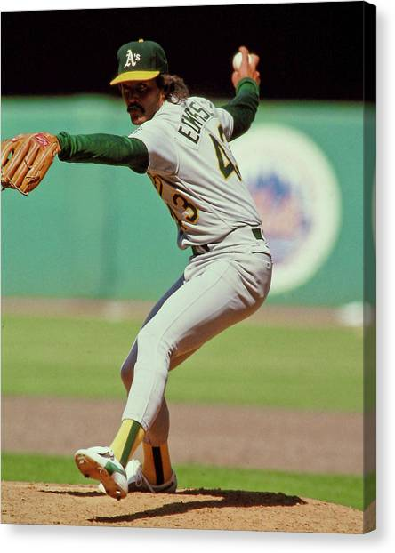 Oakland Athletics Canvas Print - Dennis Eckersley by Positive Images