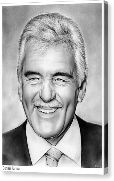 Law Canvas Print - Dennis Farina by Greg Joens