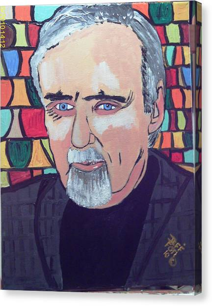 Dennis Hopper Canvas Print by Jeffrey Foti