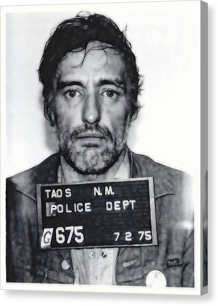Dennis Hopper Canvas Print - Dennis Hopper Mugshot 1975 by Daniel Hagerman