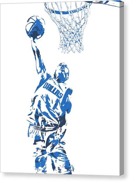 Dallas Mavericks Canvas Print - Dennis Smith Jr Dallas Mavericks Pixel Art 1 by Joe Hamilton