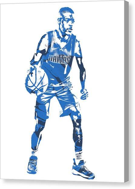 Dallas Mavericks Canvas Print - Dennis Smith Jr Dallas Mavericks Pixel Art 5 by Joe Hamilton