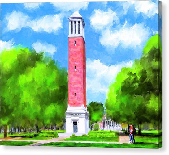 The University Of Alabama Canvas Print - Denny Chimes - University Of Alabama by Mark Tisdale