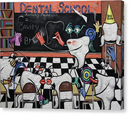 Cavity Canvas Print - Dental School by Anthony Falbo