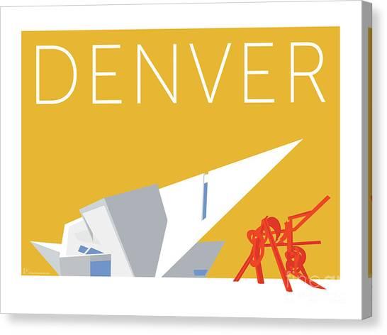 Denver Art Museum/gold Canvas Print
