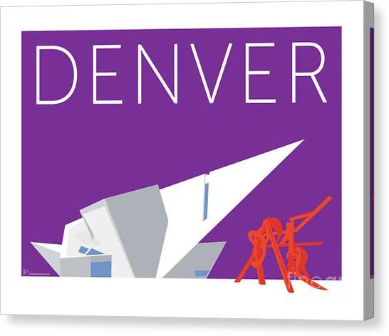 Denver Art Museum/purple Canvas Print