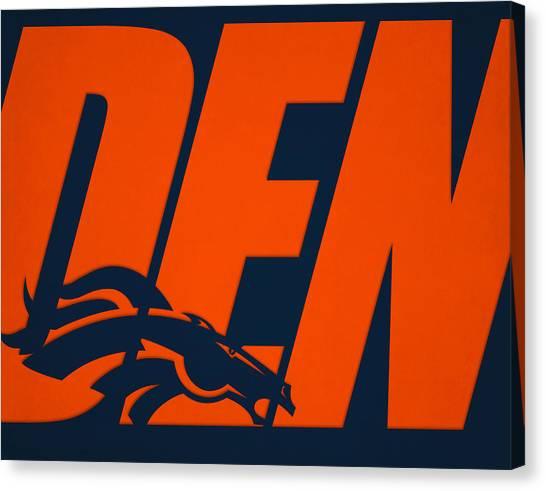 Denver Broncos Canvas Print - Denver Broncos City Name by Joe Hamilton