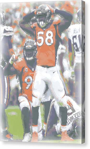Denver Broncos Canvas Print - Denver Broncos Von Miller 3 by Joe Hamilton