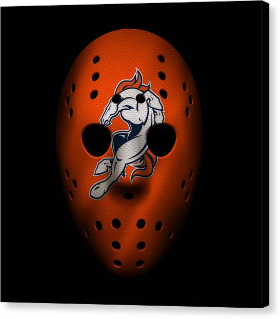 Denver Broncos Canvas Print - Denver Broncos War Mask 2 by Joe Hamilton