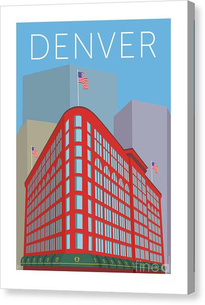 Denver Brown Palace/blue Canvas Print
