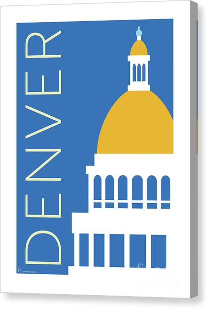 Denver Capitol/blue Canvas Print