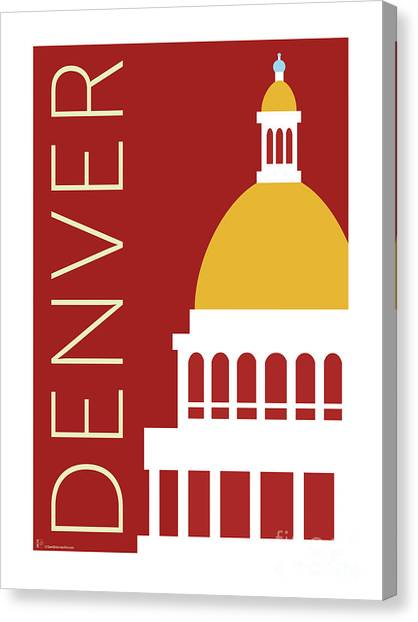 Denver Capitol/maroon Canvas Print