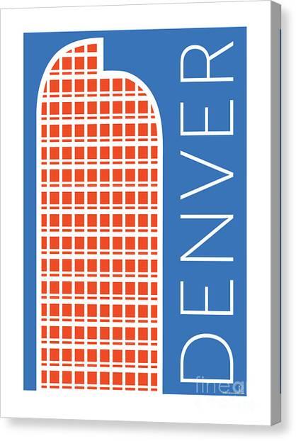 Denver Cash Register Bldg/blue Canvas Print