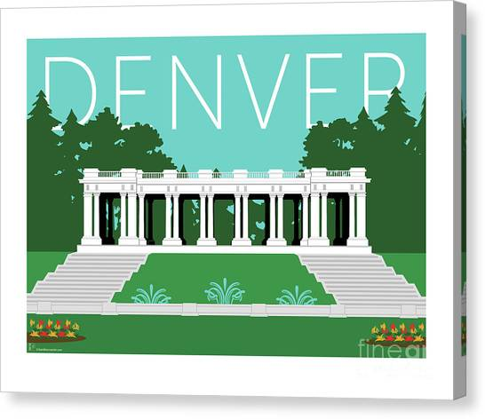 Denver Cheesman Park/lt Blue Canvas Print