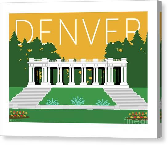 Denver Cheesman Park/gold Canvas Print