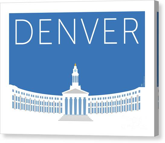 Denver City And County Bldg/blue Canvas Print