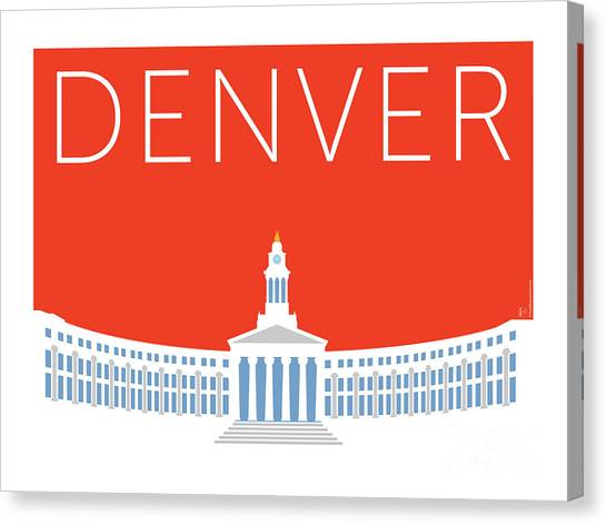 Denver City And County Bldg/orange Canvas Print