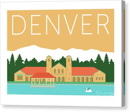 Denver City Park/adobe Canvas Print