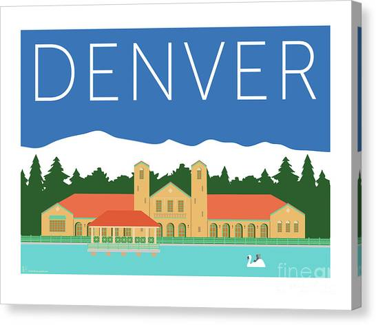 Denver City Park/blue Canvas Print