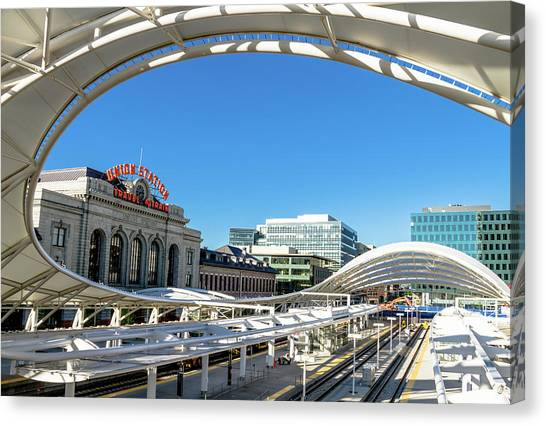 Denver Co Union Station Canvas Print