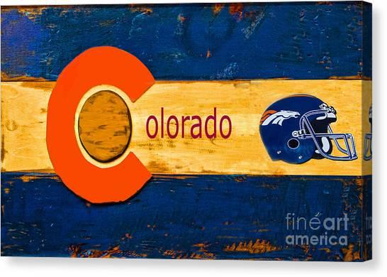 Denver Colorado Broncos 1 Canvas Print