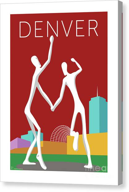 Denver Dancers/maroon Canvas Print