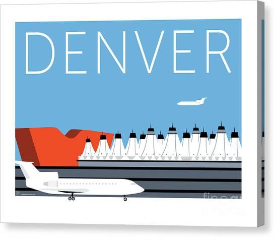 Denver Dia/blue Canvas Print