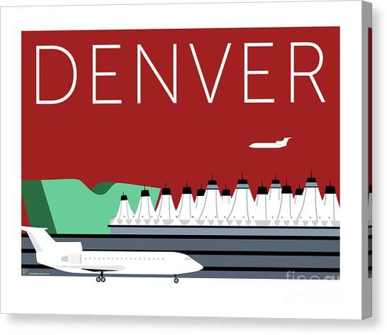 Denver Dia/maroon Canvas Print