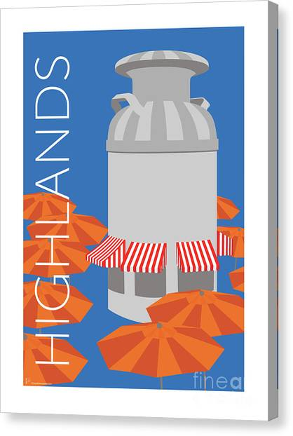 Denver Highlands/blue Canvas Print