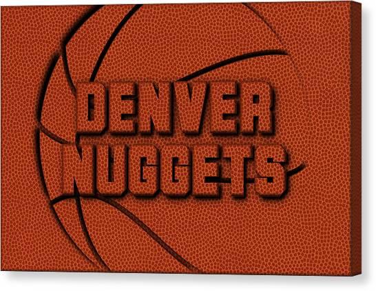 Denver Nuggets Canvas Print - Denver Nuggets Leather Art by Joe Hamilton