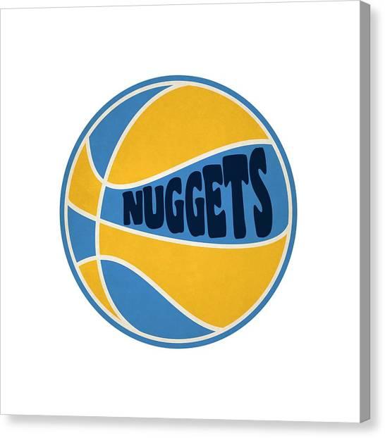 Denver Nuggets Canvas Print - Denver Nuggets Retro Shirt by Joe Hamilton