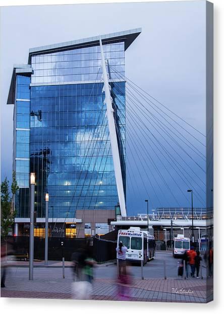 Denver Union Station And Milennium Bridge Canvas Print