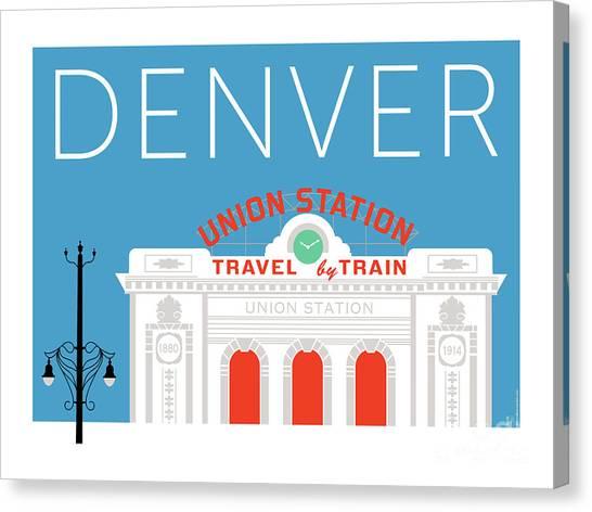 Denver Union Station/blue Canvas Print